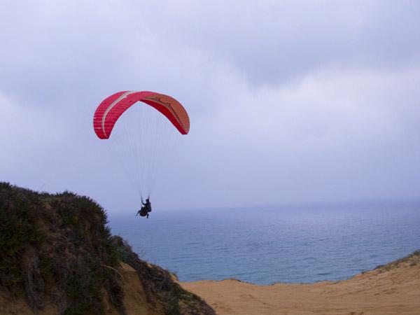 parasailing....